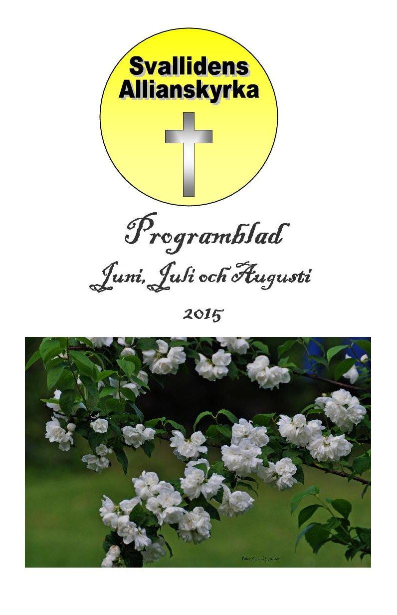 2015 Juni Juli Augusti Programblad framsida